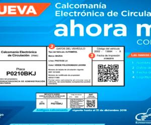 IMPRIMIR CALCOMANÍA ELECTRÓNICA DE CIRCULACIÓN